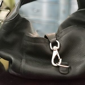 DOONEY BOURKE black leather shoulder bag